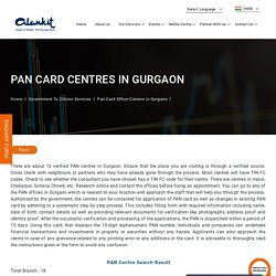 PAN Card Office Centers in Gurgaon