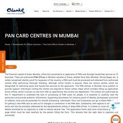 PAN Card Office Centers in Mumbai