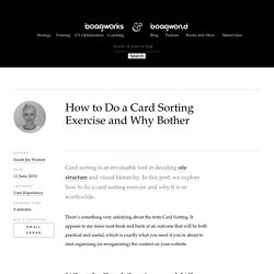 How to Do a Card Sorting Exercise and Why Bother