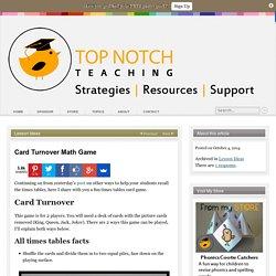Card Turnover Math Game