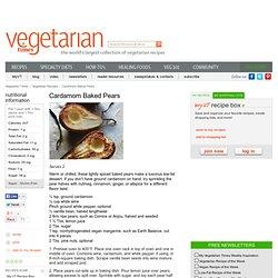 Cardamom Baked Pears Recipe