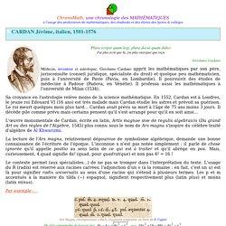 Cardan Girolamo (Jérôme)
