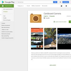 Cardboard Camera – Applications Android sur Google Play