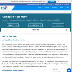 Cardboard Flask Market: COVID-19 Impact Assessment and Global Industry Analysis 2020-2030