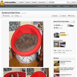 DIY Cardboard Ball Chair