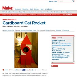 Cardboard Cat Rocket Tower