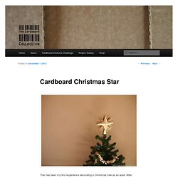 Cardboard Christmas Star
