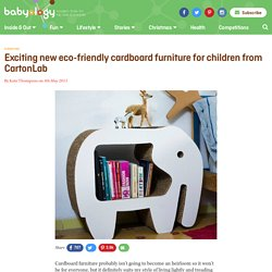 Exciting new eco-friendly cardboard furniture for children from CartonLab