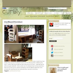 DIY Design Community « Keywords: cardboard, Furniture