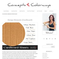 cardboard interior design