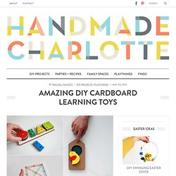 Amazing DIY Cardboard Learning Toys