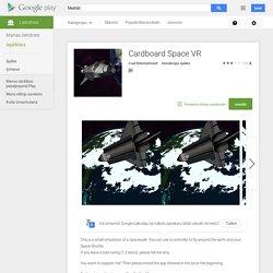 Cardboard Space VR— Android lietotnes pakalpojumā Google Play