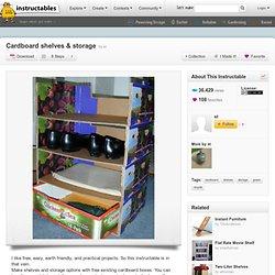 DIY Cardboard Shelves & Storage