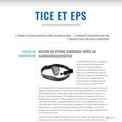 Mesure du rythme cardiaque grâce au cardiofréquencemètre