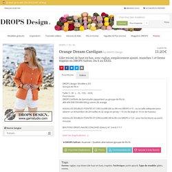 Orange Dream Cardigan / DROPS 178-43 - Gilet tricoté de haut en bas, avec raglan, empiècement ajouré, manches ¾ et forme trapèze en DROPS Safran. Du S au XXXL - Modèle gratuit de DROPS Design