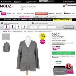 20 20 Cardigans Femme de couleur gris en soldes pas cher 802107-gris00