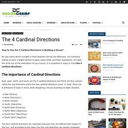 The 4 Cardinal Directions - DecorChamp