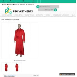 Cardinal Red Cassock - PSG Vestments