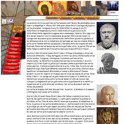 Les vertus cardinales - prudence , force , justice et tempérance
