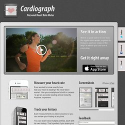 Cardiograph - Personal heart rate meter for iPhone and iPad