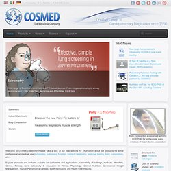 - COSMED - Cardio Pulmonary Diagnostics