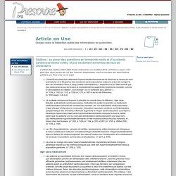 Tous les articles en Une ''Statines : se poser des questions en termes de morts et d'accidents cardiovasculaires évités, et pas seulement en termes de taux de cholestérol '', 19 février 2013
