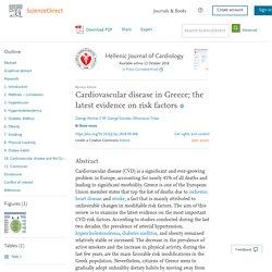 Cardiovascular disease in Greece; the latest evidence on risk factors