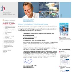 Cardiovascular Surgery - German Heart Centre