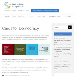Cards for Democracy – Learn to Change