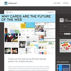 Why cards are the future of the web