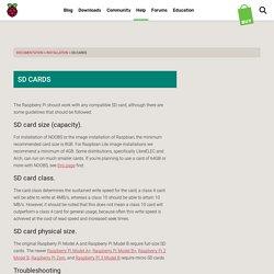 SD cards - Raspberry Pi Documentation