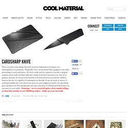 Cardsharp Knife