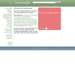 www.cardsimple.com | simple, original and contemporary free e-cards.