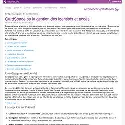 CardSpace ou la gestion des identités et accès
