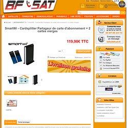 SmartWi - Cardsplitter Partageur de carte d'abonnement + 2 cartes vierges - BFSAT