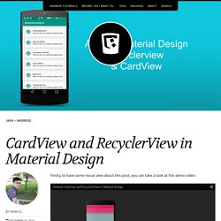 CardView and RecyclerView in Material Design – Ice Tea 09