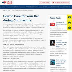 How to Care for Your Car during Coronavirus · Carfit