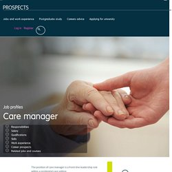 Care manager job profile
