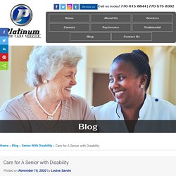 Care for A Senior with Disability