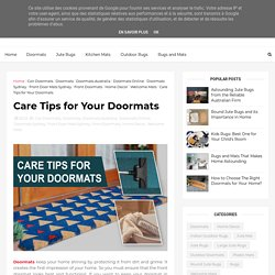 Care Tips for Your Doormats