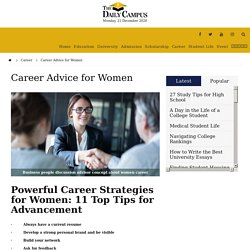 Career Advice for Women - The Daily Campus
