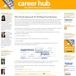 The Cloud Approach To Writing Your Resume