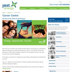 Just Energy - Career Center