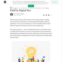 5 Steps to Boost Your Career in Any Field in Digital Era