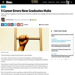5-career-errors-new-graduates-make