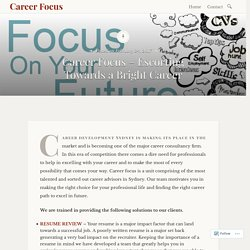 Career Focus – Escorting Towards a Bright Career