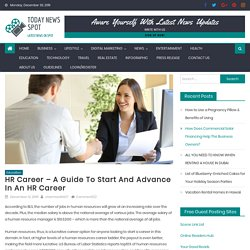 HR career – A guide to start and advance in an HR career