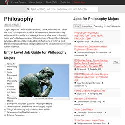 Career Ideas for Philosophy Majors