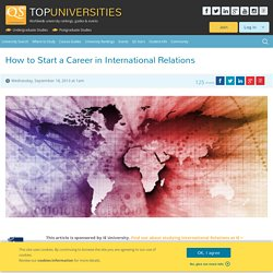 A Career in International Relations