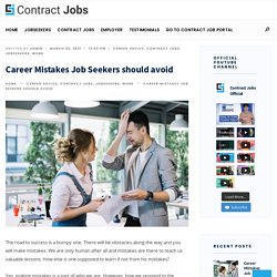 Career Mistakes Job Seekers should avoid